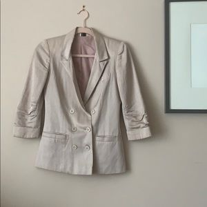 Topshop Silk Double-Breasted Jacket